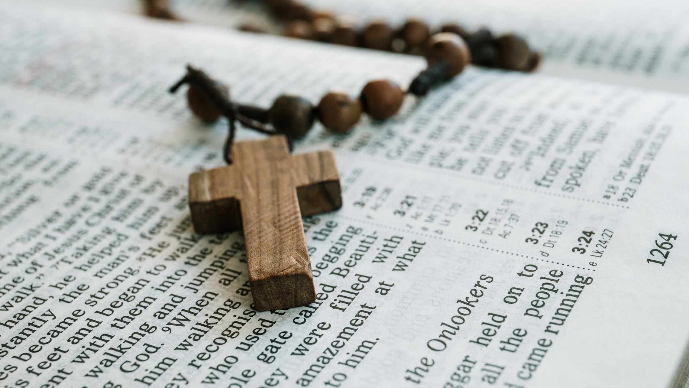 Rosary on Bible